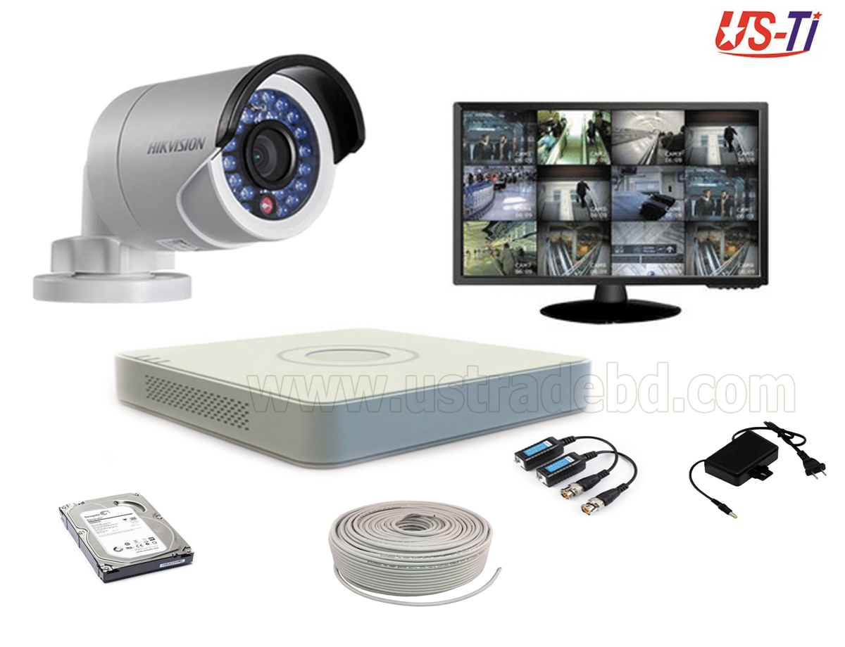 2MP Hikvision 1 Full HD CCTV Package with Monitor