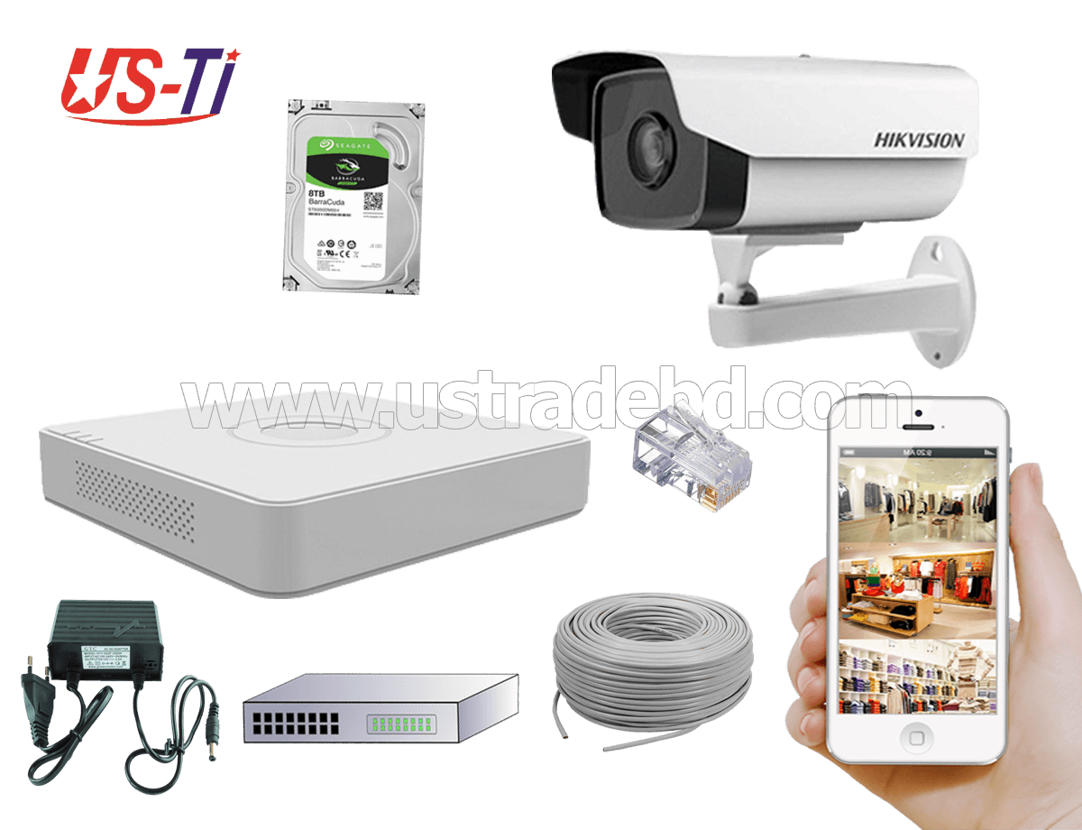 2MP IP Hikvision 1pc camera Package
