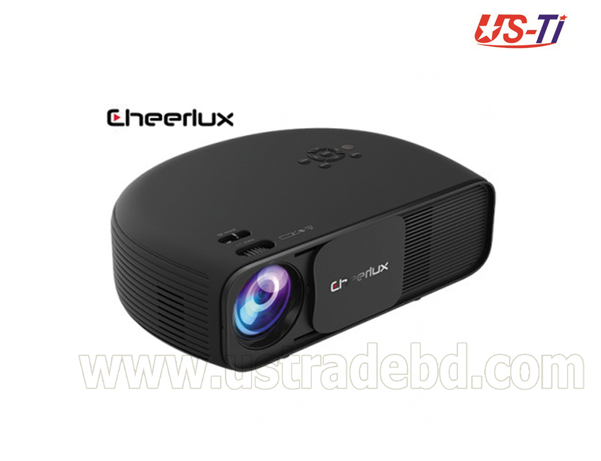 Cheerlux CL760 3600 Lumens Projector with Built-In TV Card