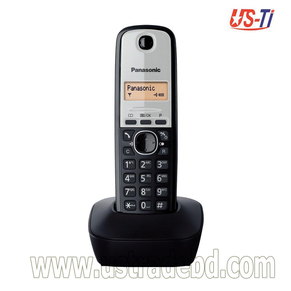 Panasonic KX-TG1911 Dect Cordless Black Phone Set