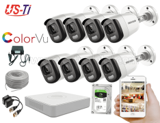 24 Hours Colour Hikvision 8pc camera Package