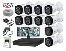 2MP Dahua 10 Unit camera CCTV Package with Monitor