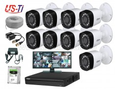 2MP Dahua 9 Unit CCTV Camera Package with Monitor
