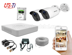 2MP Hikvision 2 Full HD Flash detection camera  CCTV Package