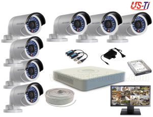 2MP Hikvision 7 Full HD CCTV Package with Monitor