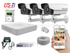 2MP IP Hikvision 3pc camera Package