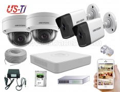 4MP IP Hikvision 4pc camera Package