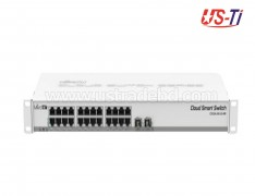 Mikrotik CSS326-24G-2S+RM SwOS powered 24 port Gigabit Ethernet switch with two SFP+ ports in 1U rackmount case